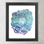 Turquoise Abstract Life - Poster Pr..
