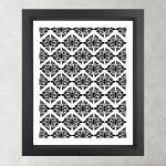 Ethnic Symmetry White Pattern- Post..