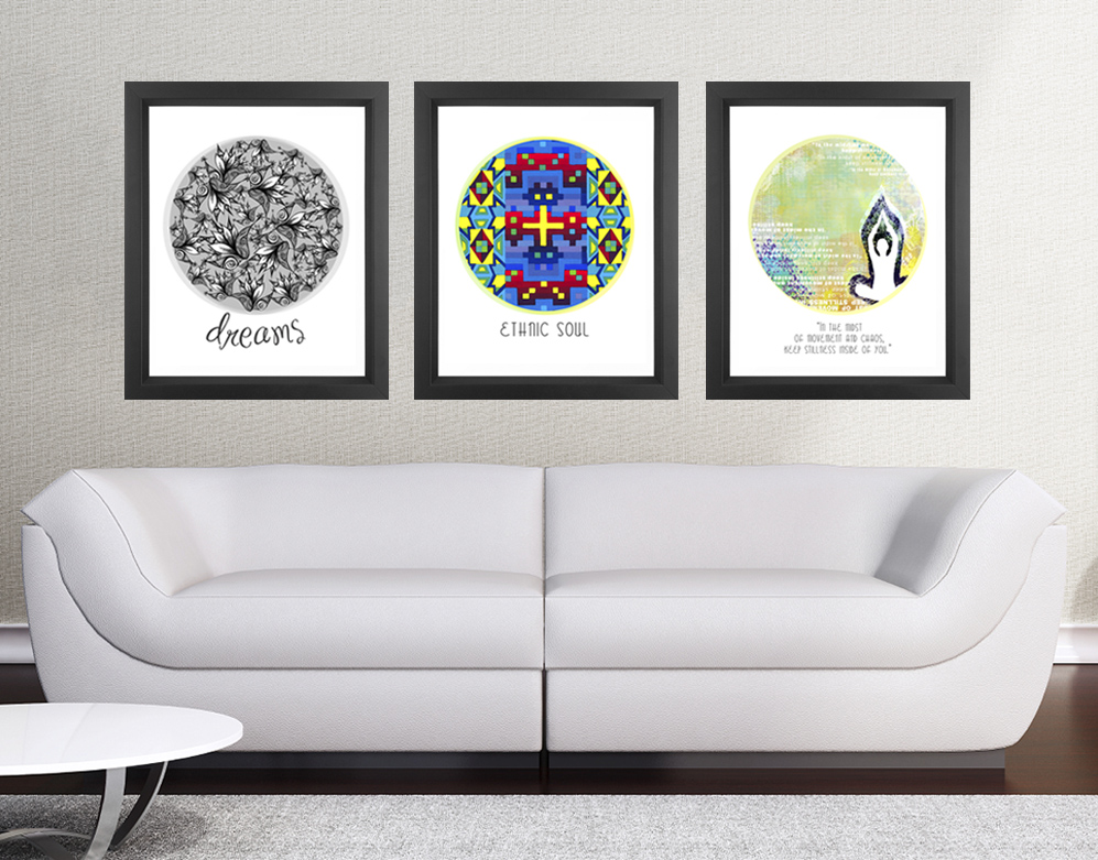 11x14 Set of 3 Discounted Poster Prints - Circle Quotes